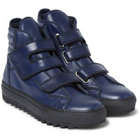 Raf Simons - Leather High-Top Sneakers | MR PORTER