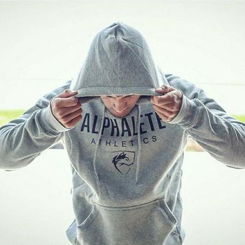 ONETOW ALPHALETE Man Fashion Hooded Top Pullover Sweater Sweatshirt Hoodie Tagre?