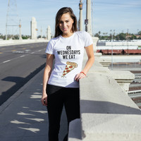 On Wednesdays We Eat Pizza Women's T-Shirt