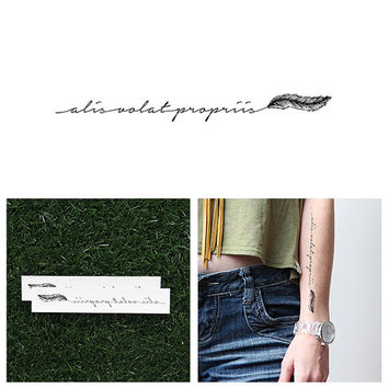 Alis Volat Propriis - Temporary Tattoo (Set of 2)