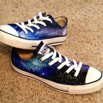 DCCKHD9 Galaxy Converse Shoes by DonishDesigns on Etsy