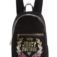 Jc Laurel Velour Backpack by Juicy Couture