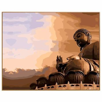 Buddha Paint By Numbers On Canvas With Frame  Unique Gifts