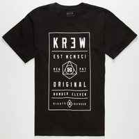Kr3w Brick Mens T-Shirt Black  In Sizes