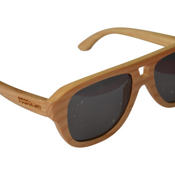 Be Curious - White Ash Wood Sunglasses
