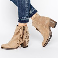 Rule London Fringe Suede Ankle Boots
