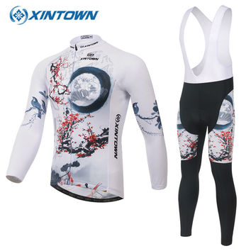 XINTOWN Men Women Road Bike Cycling Jersey Clothing Breathable Quick Dry Ropa Ciclismo Longsleeve Maillot Cyclisme Femme