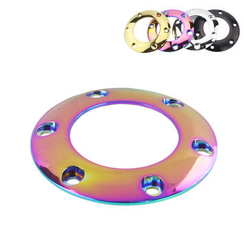 Steering Wheel Horn Button Cover Gold / Black / Silver / Neo Chrome b Steering Wheel Horn Button Cover With 6pcs Screw YC100438