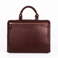 Burgundy Full Leather Briefcase