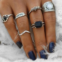 Black Emerald Ring Set