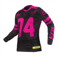 Fox Racing 2016 Womens Switch Jersey Pink available at Motocross Giant