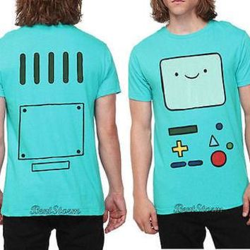 Licensed cool NEW Adventure Time With Finn & Jake Green BMO Beemo Face Tee T-Shirt Men's XX