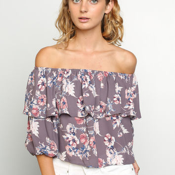 Cha Cha Floral Blouse