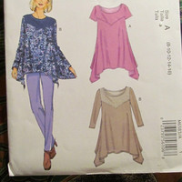 SALE Uncut McCall's Sewing Pattern, 6583! 8-10-12-14-16 Small/Medium/Large/Women's/Misses, Loose Fitting Flare Tops/Shirts/Blouses