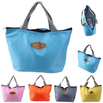 Waterproof Portable Picnic Insulated Food Storage Box Tote Lunch Bag