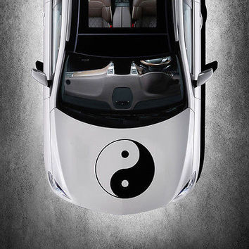 Taoism Symbol Sign Yin and Yang HOOD CAR VINYL STICKER DECALS GRAPHICS SV3655