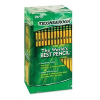Dixon Ticonderoga Wood-Cased #2 HB Pencils, Box of 96, Yellow (13882)