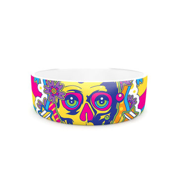 "Roberlan ""Skull"" Rainbow Illustration Pet Bowl"