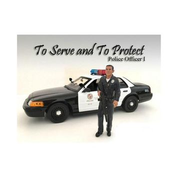 Police Officer I Figure For 1:24 Scale Models by American Diorama