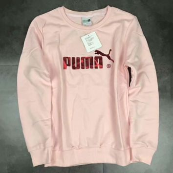 """Puma"" Casual Fashion Sport Monogram Print Long Sleeve Sweater G-A-GHSY-1"