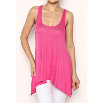 In Style 'Must Have' Fuschia Knit Tank