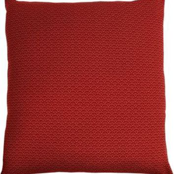 J-Life Seikai Ha Red Zabuton Floor Pillow