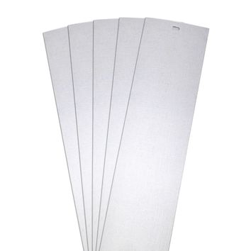DALIX Lino Vertical Window Blinds Slats Replacement Parts White 5 Pack