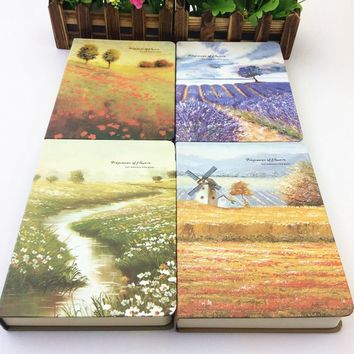Sketchbook Beauty oil painting thick blank page Korean version of notebook stationery gifts