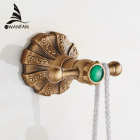 Luxurious Shipping Wall Mounted Clothes Coat Robe Purse Hat Hook Antique Brass Towel Hook Et-7905