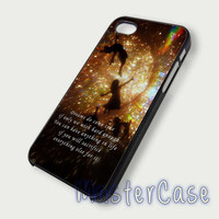Peterpan Quotes - Hard Plastic,Covers Phone,Custom IPhone 5,IPhone 4,Samsung Galaxy S3,S4,Blackberry,HTC One -AA168-6