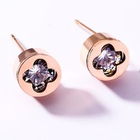 LV Louis Vuitton Hot Sale Women Shiny Diamond Earrings Accessories Jewelry