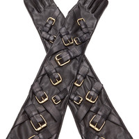 Over-The-Elbow Buckle Accent Gloves by Prabal Gurung - Moda Operandi