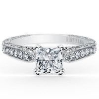 Kirk Kara Stella Princess Cut Diamond Engagement Ring