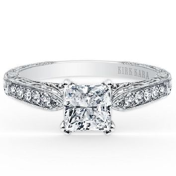 "Kirk Kara ""Stella"" Princess Cut Diamond Engagement Ring"