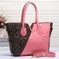 Louis Vuitton LV Women Shopping Leather Tote Crossbody Satchel Shoulder Bag