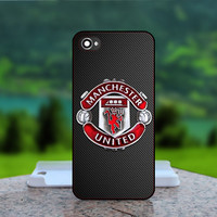 Manchester United Football Club- Photo Print in Hard Case - For iPhone 4 / 4s Case , iPhone 5 Case - White Case, Black Case (CHOOSE OPTION )