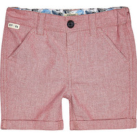 River Island Mini boys red shorts