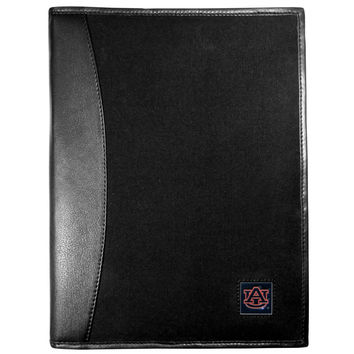 Auburn Tigers Leather and Canvas Padfolio CPAD42