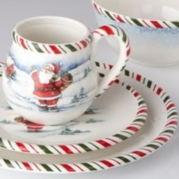 Kathy Ireland Home By Gorham Once Upon a Christmas Tableware - Santa Dinnerware