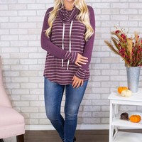 Darling Striped Cowl Neck- Multiple Options