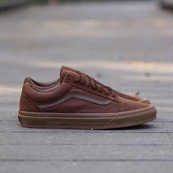 AU spbest Vans Old Skool  Suede  Dark Earth
