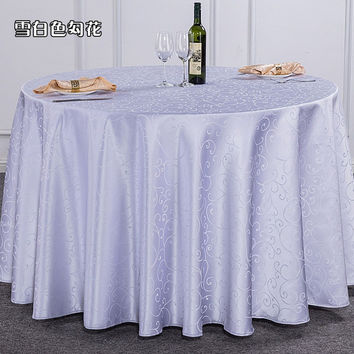Round 100cm  tablecloth table cover for wedding, resturant banquet multicolor