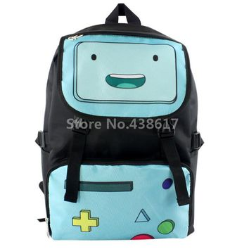 Adventure Time BMO Robot Canvas Backpack School Bag Cartoon Kids Children Bags for Boys Schoolbag