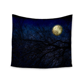 """Sylvia Coomes """"Blue Moon """" Blue Celestial Wall Tapestry"""