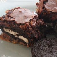 Slutty Brownies -  Cookie Oreo Chocolate Fudge Brownie Bars