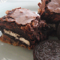 Slutty Brownies Cookie Oreo Chocolate Fudge Brownies by BakeAllTheThings