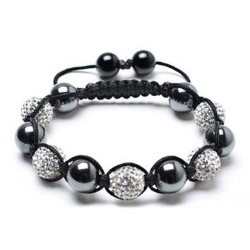 Bling Jewelry O Balls Of Grey Noir