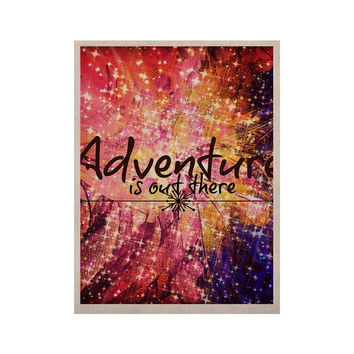 "Ebi Emporium ""Adventure is Out There"" Pink Typography KESS Naturals Canvas (Frame not Included)"