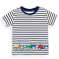 Tractor Cars Black Striped Tee