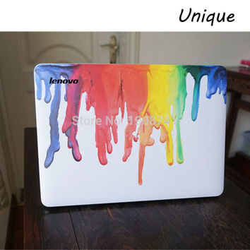 """Color Graffiti Front Cover Laptop Decal Sticker Case For Lenovo 10"""" 11"""" 12"""" 13"""" 14"""" 15"""" 17"""" Inch Guard Protective Cover Skin"""